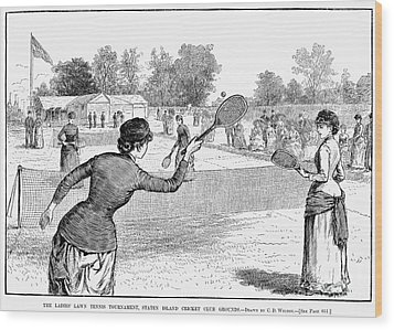 Lawn Tennis, 1883 Wood Print by Granger