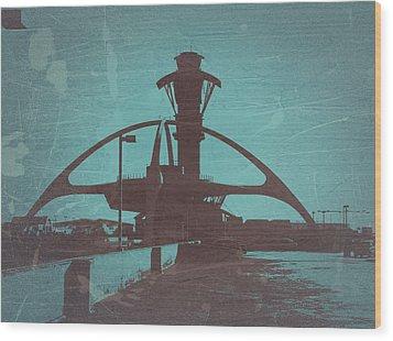 LAX Wood Print by Naxart Studio