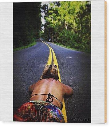 Lay It On The Line Wood Print by Natasha Marco