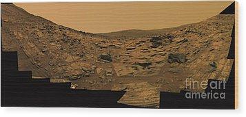 Layered Exposures Of Rock Wood Print by Stocktrek Images