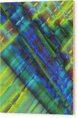 Wood Print featuring the photograph Layers Of Blue by David Pantuso