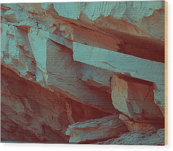 Layers Of Rock Wood Print