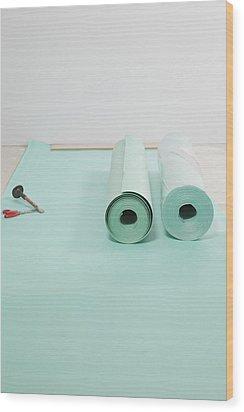 Laying A Floor. Rolls Of Underlay Or Wood Print by Magomed Magomedagaev