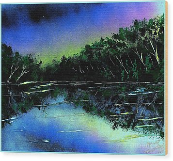 Lazy River Wood Print by Greg Moores