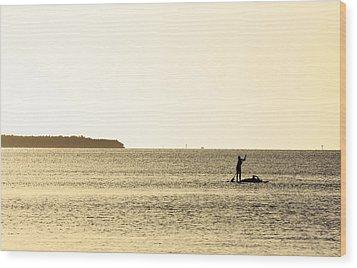 Lazy Sunset Wood Print by Ty Helbach
