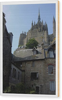 Wood Print featuring the photograph Le Mont-michel by Frank Wickham