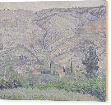 Le Ragas Near Toulon Wood Print by Camille Pissarro
