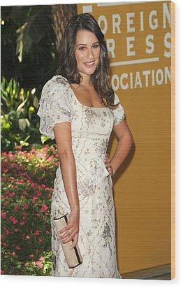 Lea Michele Wearing A Valentino Resort Wood Print by Everett
