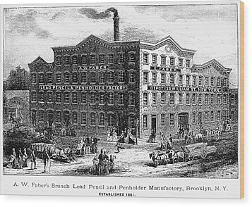 Lead Pencil Factory Wood Print by Granger