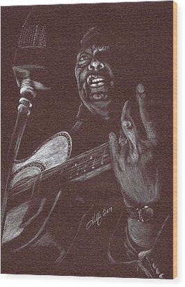 Leadbelly Wood Print by Kathleen Kelly Thompson