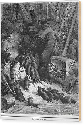 League Of Rats, 1868 Wood Print by Granger