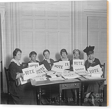 League Of Women Voters Wood Print by Granger