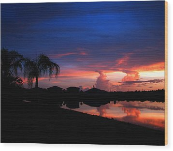 Leaking Clouds Wood Print by Bill Lucas