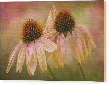 Lean On Me Wood Print by Donna Eaton