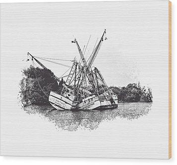 Lean On Me Wood Print by Gordon Engebretson