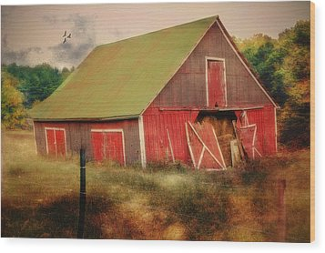 Lean To The Left Wood Print by Mary Timman