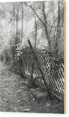 Wood Print featuring the photograph Leaning Fence by Mary Almond