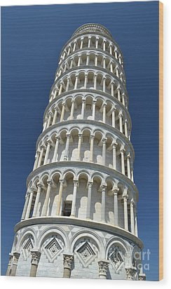 Wood Print featuring the photograph Leaning Tower Of Pisa by Kathleen Pio