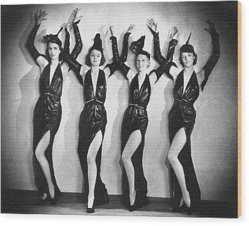 Leather Dancers Wood Print by Sasha