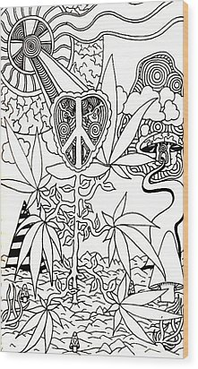 Leaves Wood Print by Andrew Padula