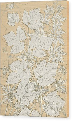 Leaves From Nature Wood Print by Christopher Dresser