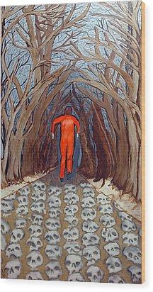 Leaving Eden Wood Print by Lisa Brandel