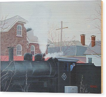 Leaving The Station Wood Print