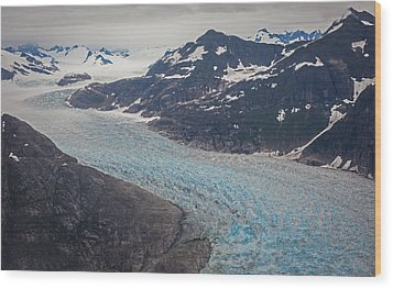 Leconte Glacial Flow Wood Print by Mike Reid