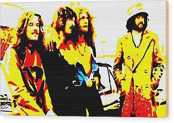 Led Zeppelin Wood Print by Paula Sharlea
