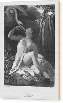 Leda And The Swan Wood Print by Granger