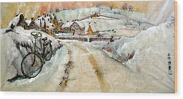Wood Print featuring the painting Left By The Side Of The Road by Debbi Saccomanno Chan