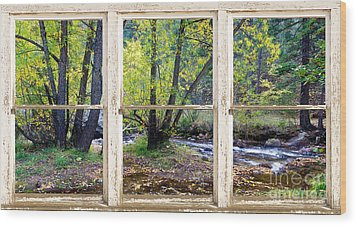 Left Hand Creek Rustic Window View Colorado Wood Print by James BO  Insogna