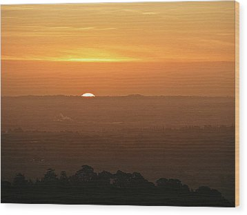 Wood Print featuring the photograph Leicestershire Sunrise by Linsey Williams