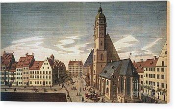 Leipzig: St. Thomas Church Wood Print by Granger