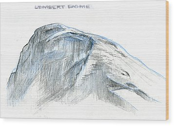 Lembert Dome At Noon Wood Print by Logan Parsons