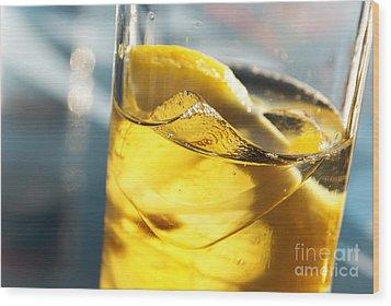 Lemon Drink Wood Print by Carlos Caetano