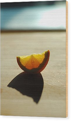 Lemon Shell Wood Print