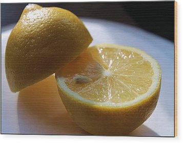Lemon Slices Wood Print by Sarah Broadmeadow-Thomas