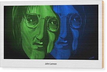 Lennon Wood Print by Mark Moore