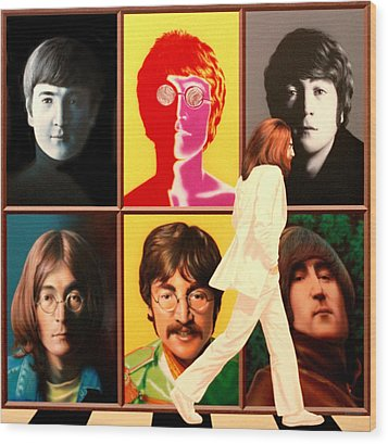 Lennon To The 7th Power Wood Print by Ross Edwards