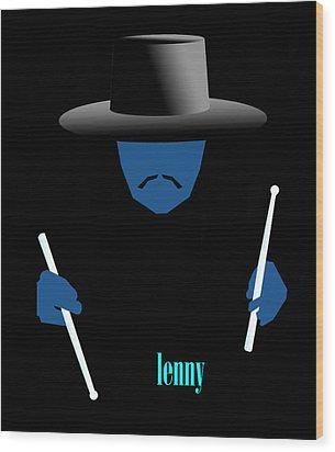 Lenny Blue Wood Print