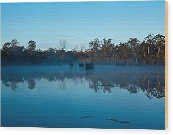 Lenthalls Dam 11 Wood Print by David Barringhaus