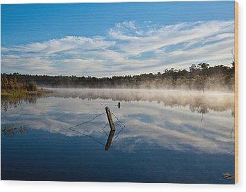Lenthalls Dam 16 Wood Print by David Barringhaus