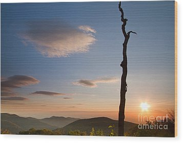 Lenticular Clouds Over Shenandoah National Park Wood Print by Dustin K Ryan