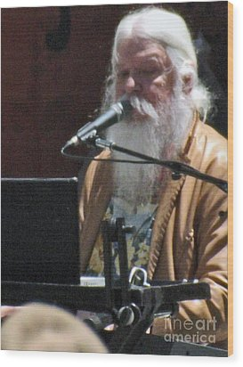 Leon Russell Wood Print by Gary Brandes