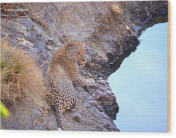 Leopard Wood Print by Arno Pietersen