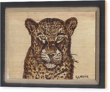 Leopard Wood Print by Clarence Butch Martin