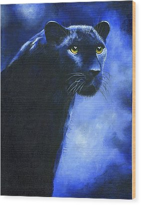 Leopard Wood Print by Diana Lehr