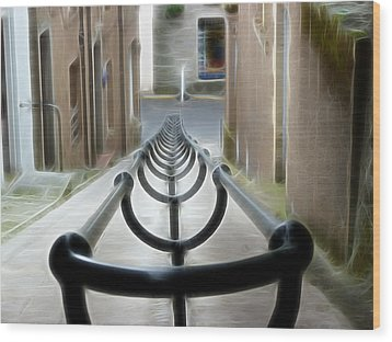 Wood Print featuring the photograph Lerwick Lanes by Lynn Bolt