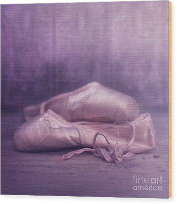Les Chaussures De La Danseue Wood Print by Priska Wettstein